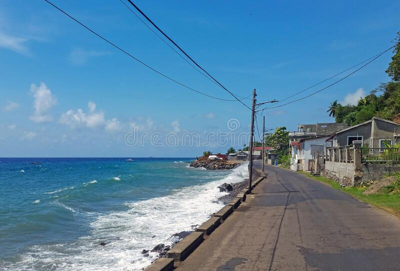 圣基茨在加勒比的观点 库存照片