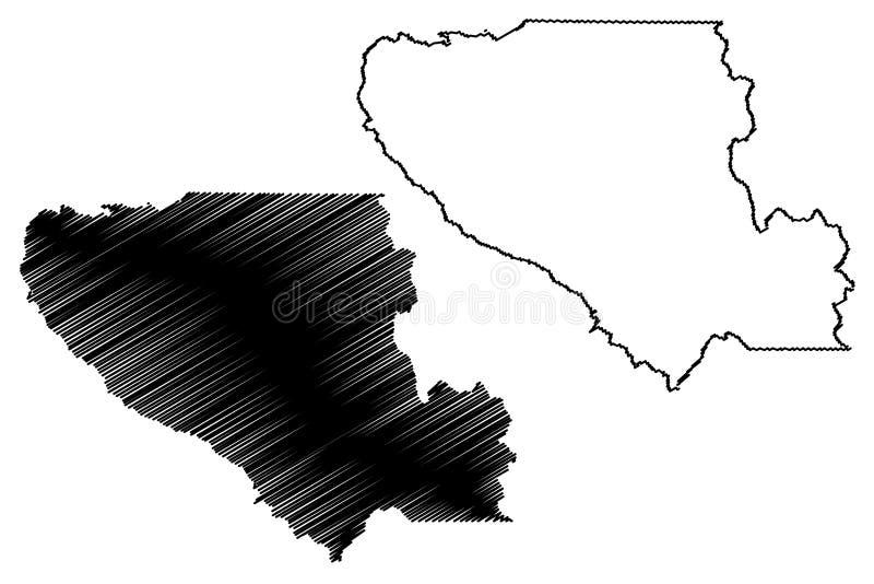圣塔克拉拉县,加利福尼亚地图传染媒介 向量例证