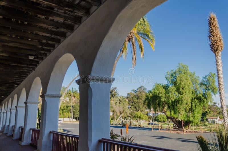 圣塔巴巴拉使命在加利福尼亚,美国 免版税库存图片