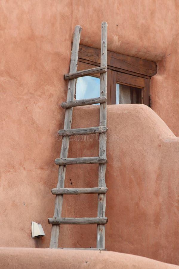 圣塔菲,新墨西哥Adobe大厦 图库摄影