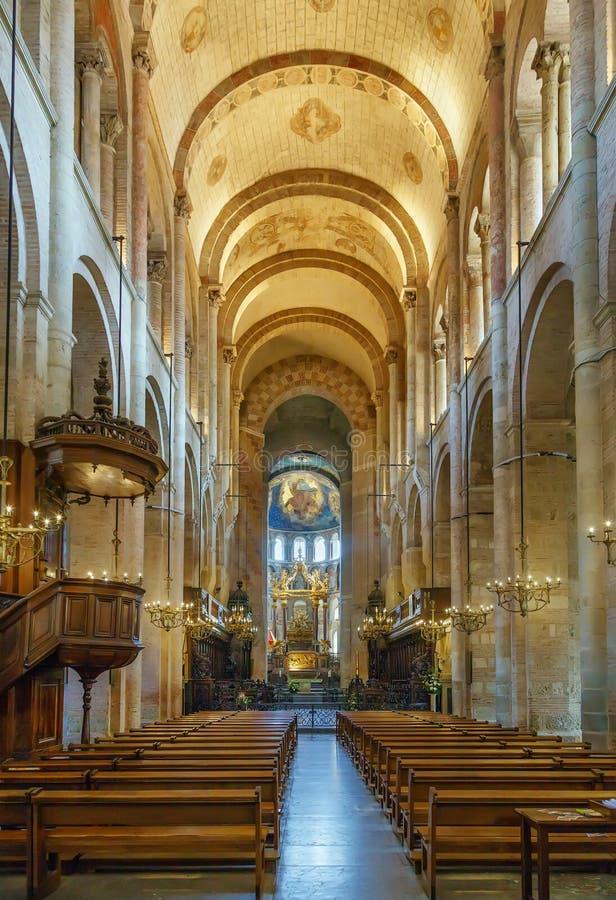 圣塞尔南,图卢兹,法国大教堂  免版税库存图片