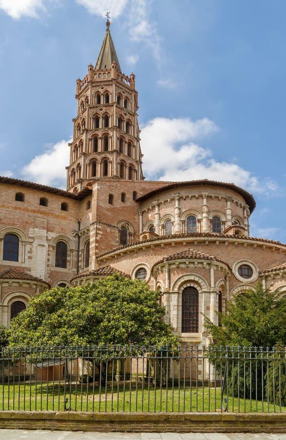 圣塞尔南,图卢兹,法国大教堂  免版税库存照片