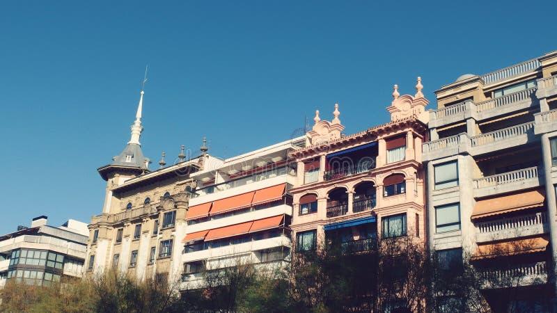 圣塞瓦斯蒂安西班牙市屋顶 库存图片