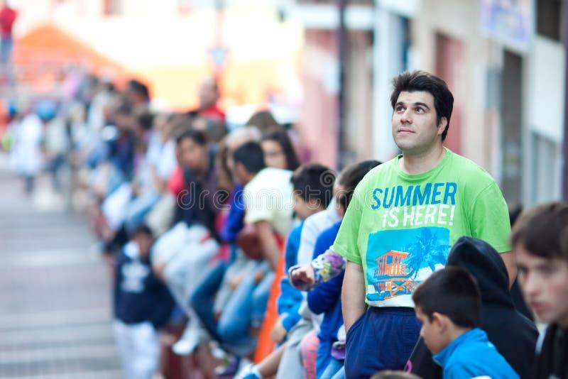 圣塞瓦斯蒂安DE LOS雷耶斯- 9月29日的马德里郊区:Spec 免版税库存照片