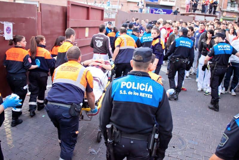 圣塞瓦斯蒂安DE LOS雷耶斯- 9月29日的马德里郊区:wo 免版税图库摄影