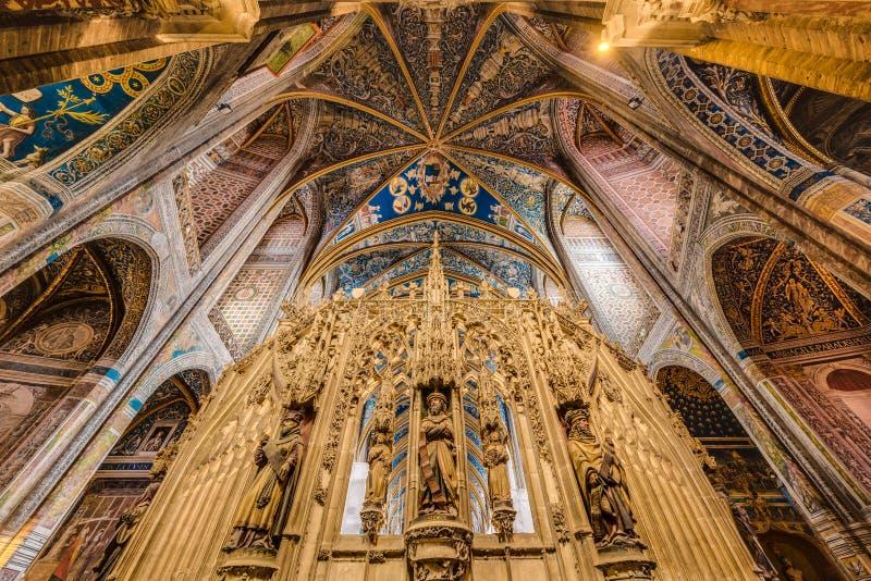 圣塞西莉亚大教堂大教堂,在阿尔比,法国 图库摄影