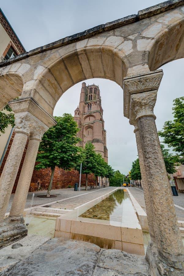 圣塞西莉亚大教堂大教堂,在阿尔比,法国 免版税图库摄影