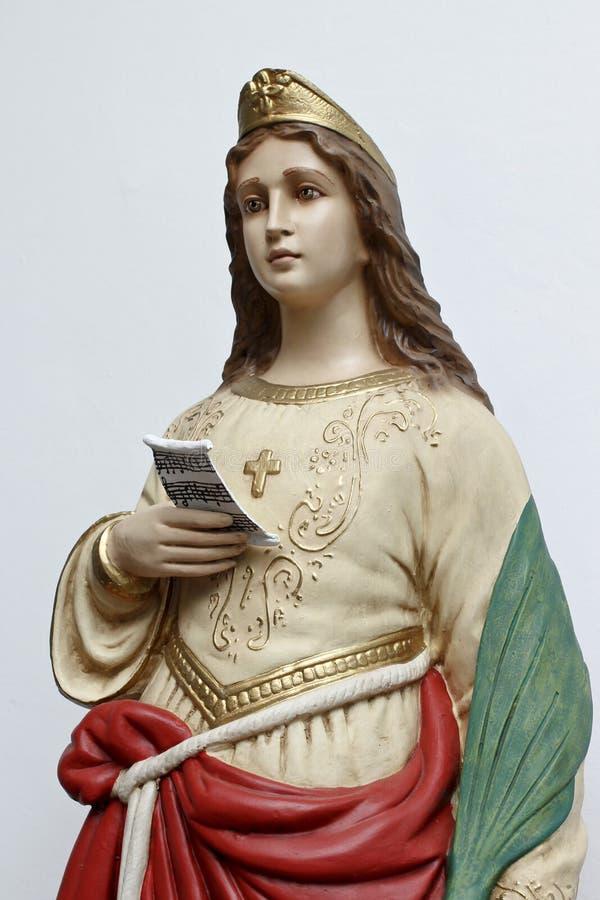 圣塞西莉亚法坛  库存照片