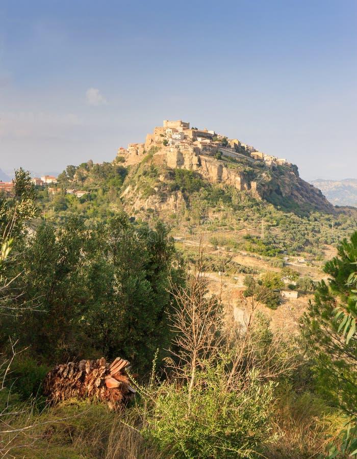圣塞韦里纳在卡拉布里亚,意大利 库存图片