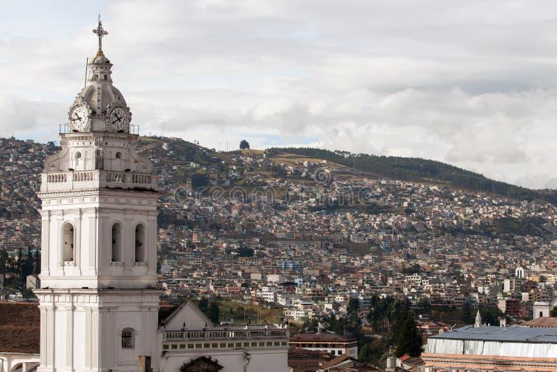 圣多明哥教会在基多,厄瓜多尔 库存照片