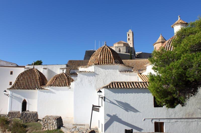 圣多明哥教会在Ibiza 库存照片