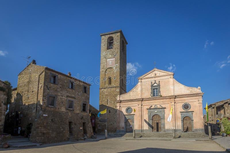 圣多纳托教会奇维塔二巴尼奥雷焦 库存照片