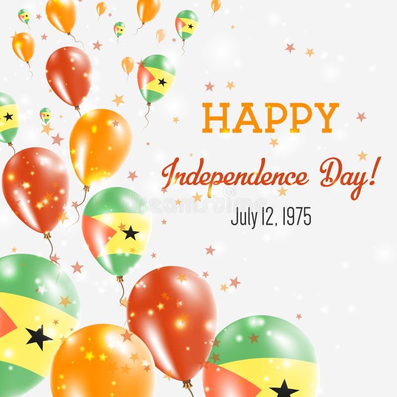 圣多美和普林西比美国独立日问候 向量例证