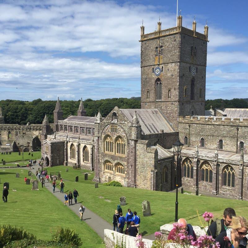 圣大卫的大教堂,威尔士 免版税库存照片