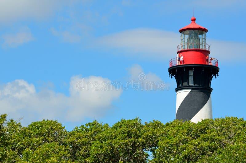 圣奥古斯蒂娜佛罗里达灯塔 库存图片
