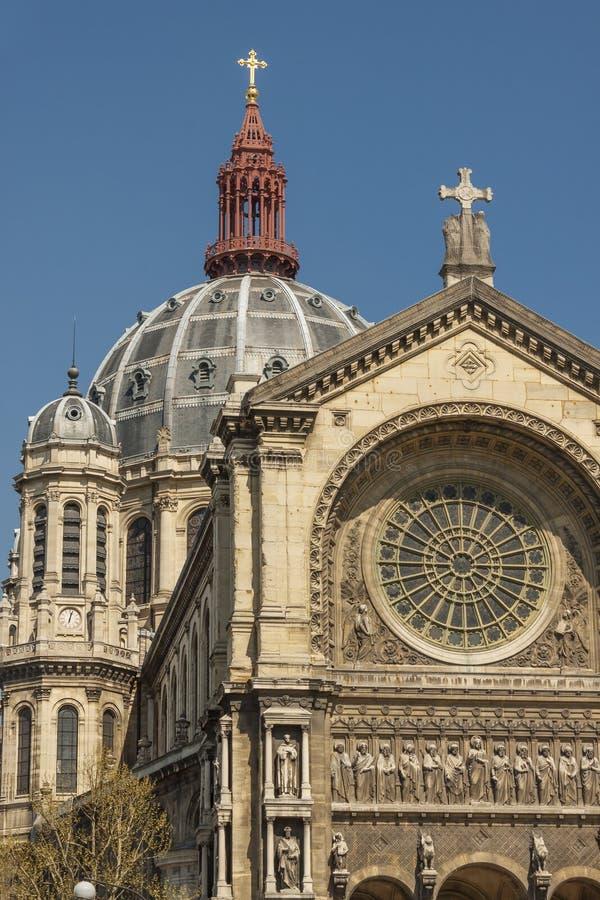 圣奥古斯蒂娜教会在巴黎-法国 免版税图库摄影