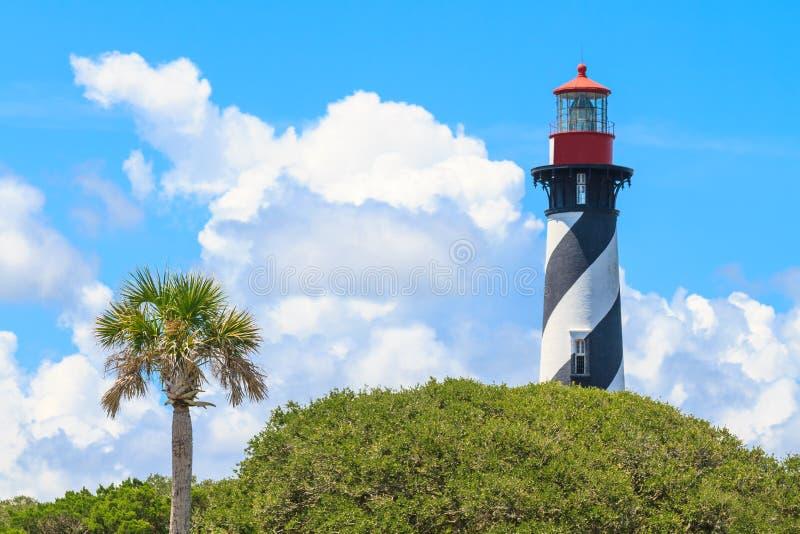 圣奥古斯蒂娜灯塔,佛罗里达 免版税图库摄影