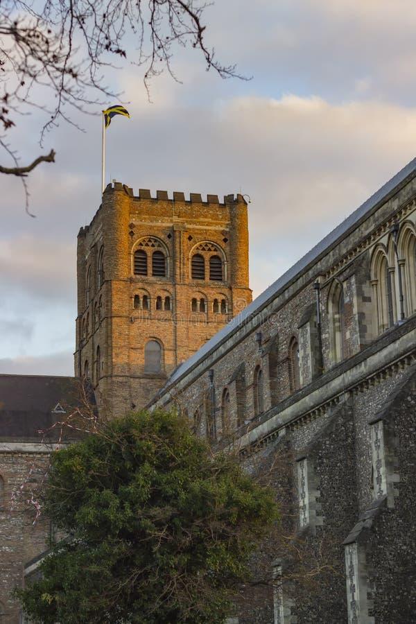 圣奥尔本斯大教堂  库存图片