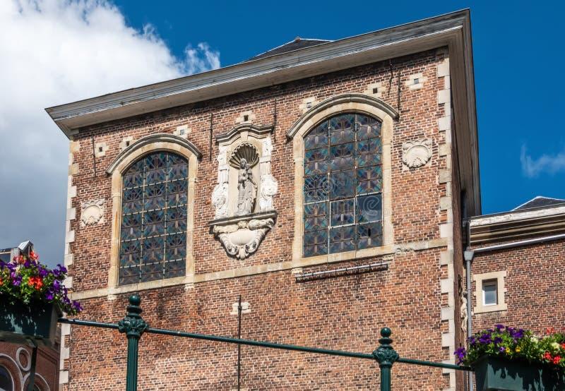 圣奥斯丁沿辛迪里夫河,绅士,富兰德,比利时的修道院门面 免版税图库摄影