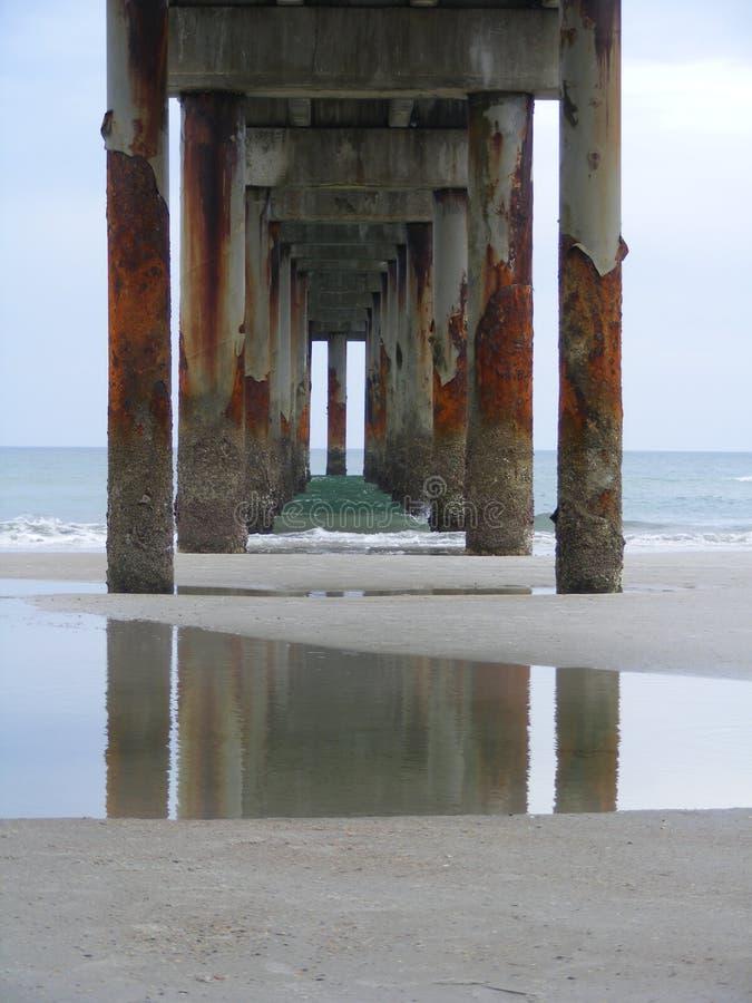 圣奥斯丁海滩码头 库存图片