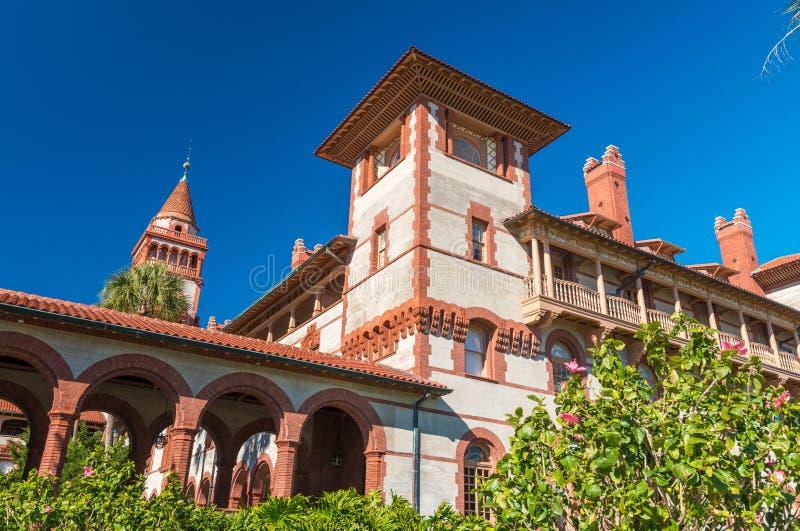圣奥斯丁,佛罗里达,美国 Flagler学院 免版税库存图片