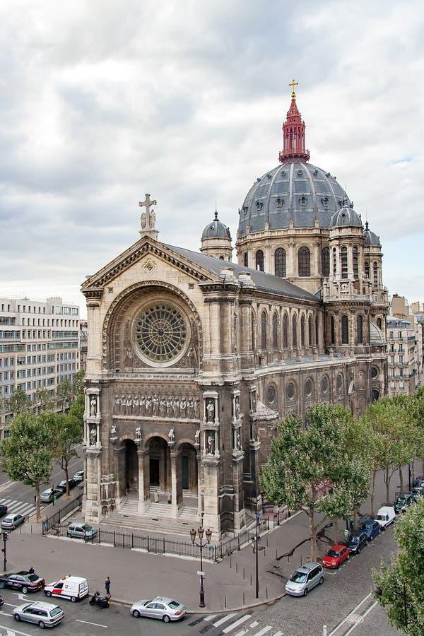 圣奥斯丁,巴黎,法国教会  免版税图库摄影