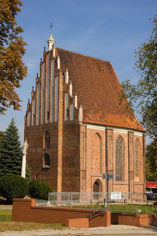 圣女玛丽亚中世纪牧师会主持的教堂。 波兹南。 波兰 库存照片