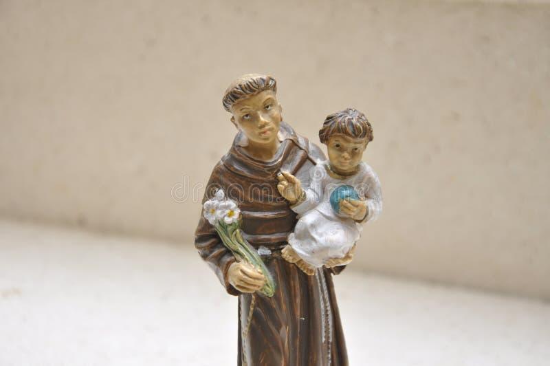 圣安东尼奥二帕多瓦形象 库存图片