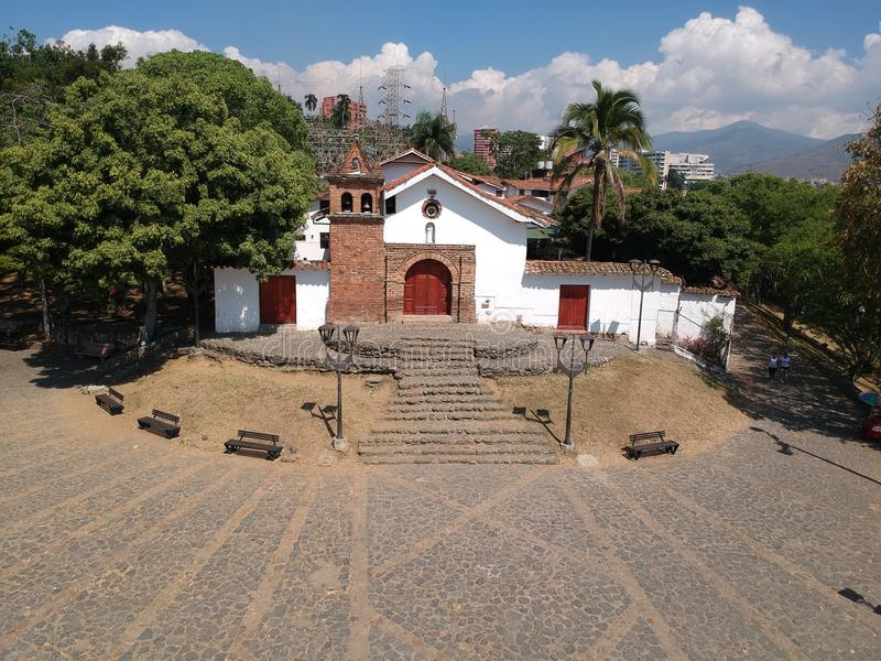 圣安东尼奥教会,卡利-哥伦比亚 免版税库存照片