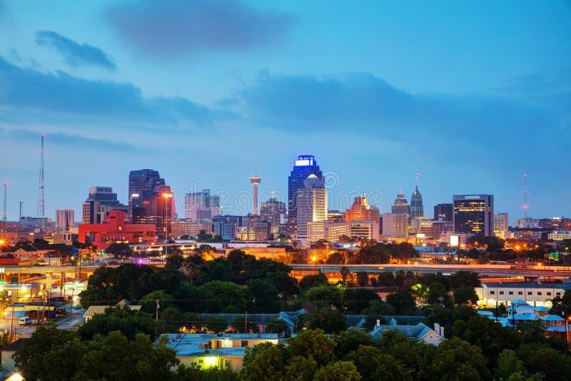 圣安东尼奥, TX都市风景 库存图片