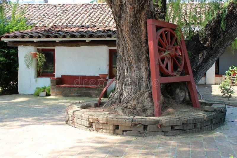圣安东尼奥de勃拉Mission在加利福尼亚 免版税库存照片