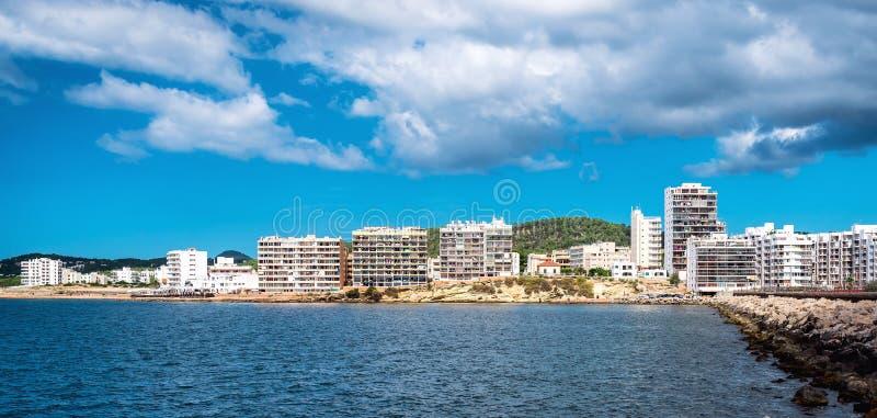 圣安东尼奥de Portmany海湾,伊维萨岛 免版税库存照片