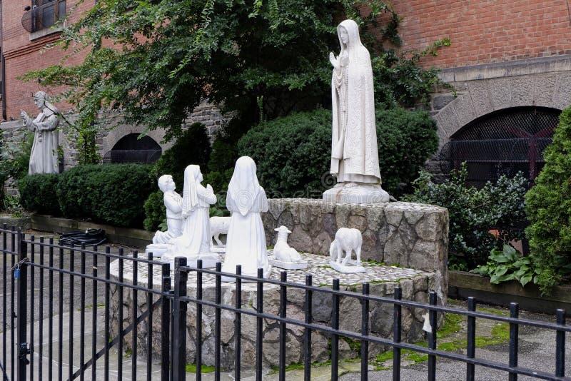 圣安东尼帕多瓦天主教,纽约-2 库存照片