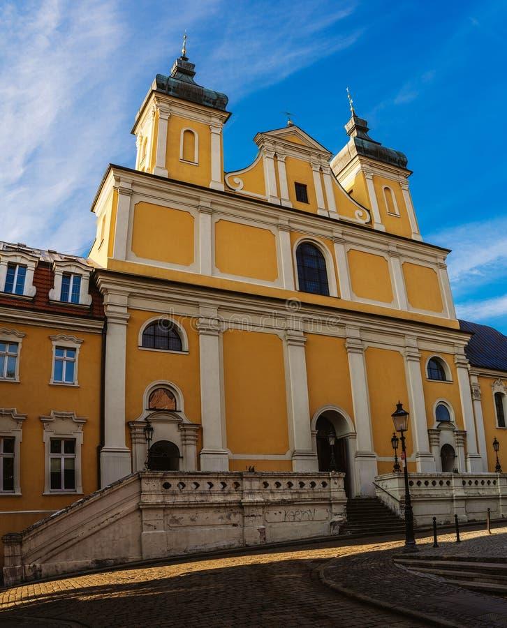 圣安东尼方济会修士教会在波兹南,波兰 库存图片