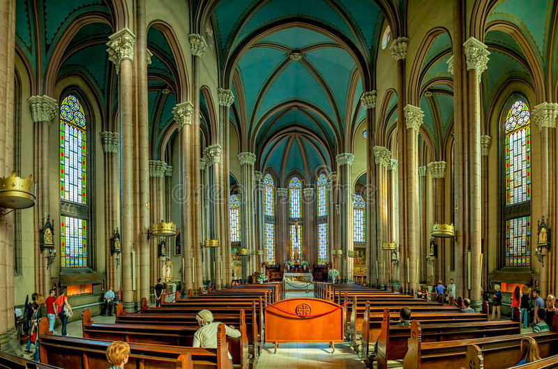 圣安东尼,伊斯坦布尔教会  库存图片