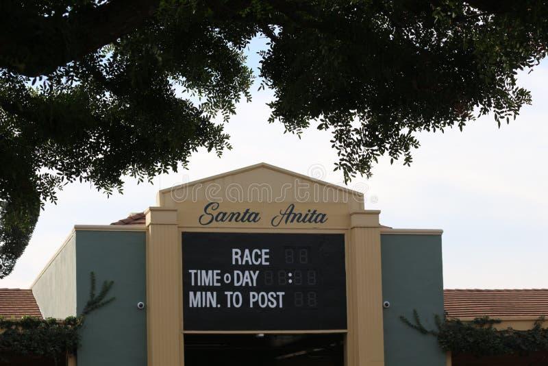 圣安妮塔赛马场 免版税库存图片