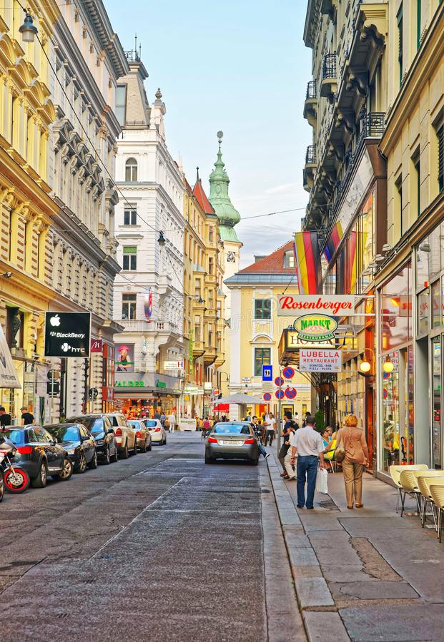 圣安妮教会在维也纳 库存图片
