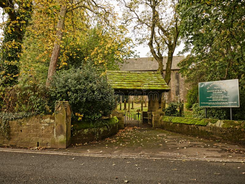 圣安妮教会篱芭的兰开夏郡英国 免版税库存照片