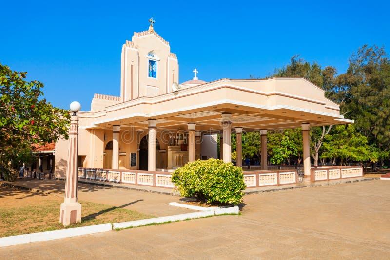 圣安妮教会,斯里兰卡 库存照片