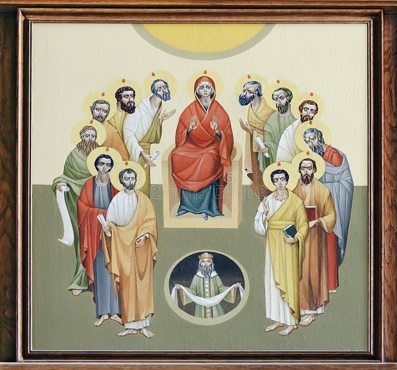 圣安妮- Pentecost教会  库存例证