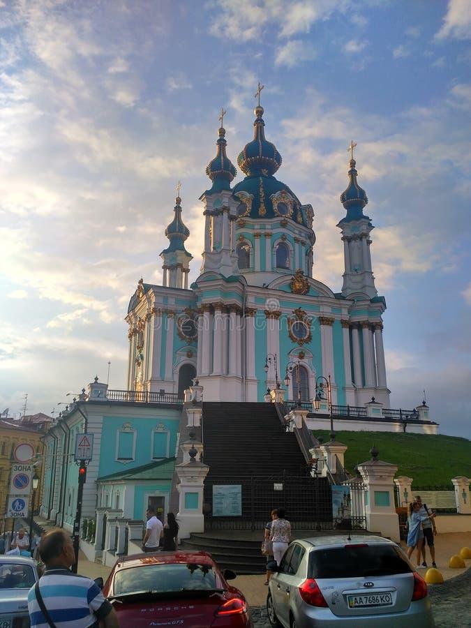 圣安德烈教堂在基辅 免版税库存图片