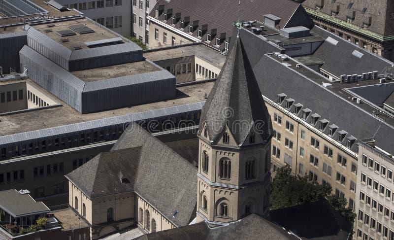 圣安德烈教堂在科隆 库存图片