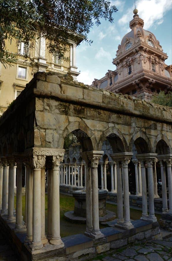 圣安德鲁斯修道院-热那亚地标 免版税图库摄影