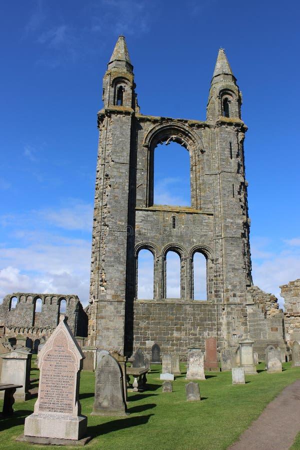 圣安德鲁,圣安德鲁斯,鼓笛,苏格兰大教堂  免版税库存照片