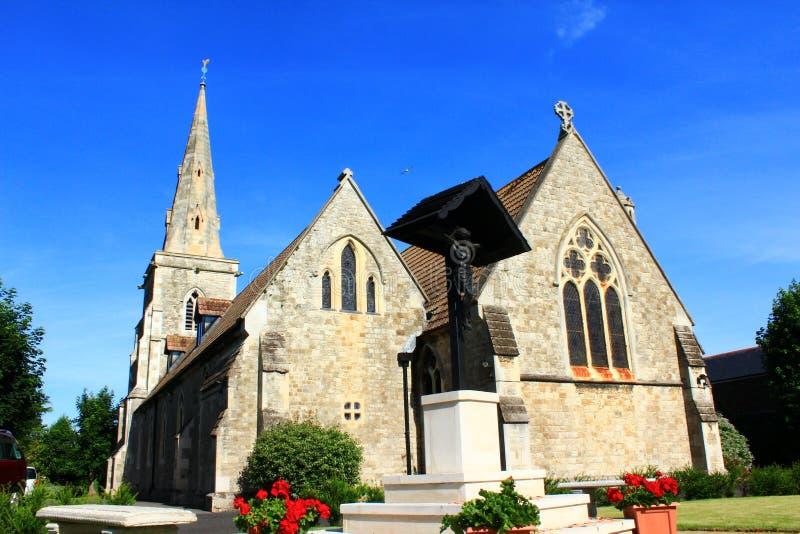 圣安德鲁& x27; s教会,成交肯特英国 库存照片