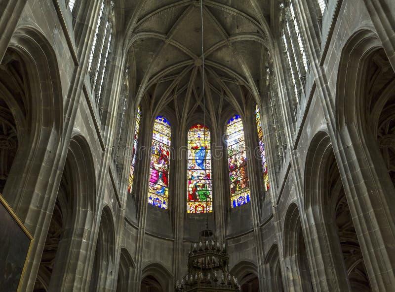 圣安托万教会,贡比涅,瓦兹省,法国 图库摄影
