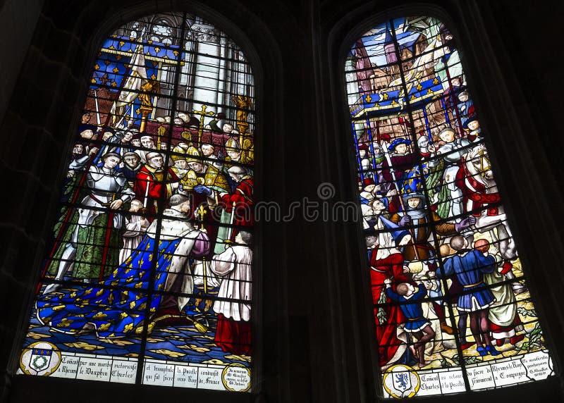 圣安托万教会,贡比涅,瓦兹省,法国 库存图片