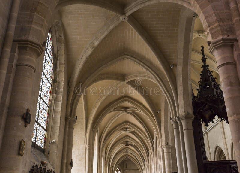 圣安托万教会,贡比涅,瓦兹省,法国 免版税库存图片