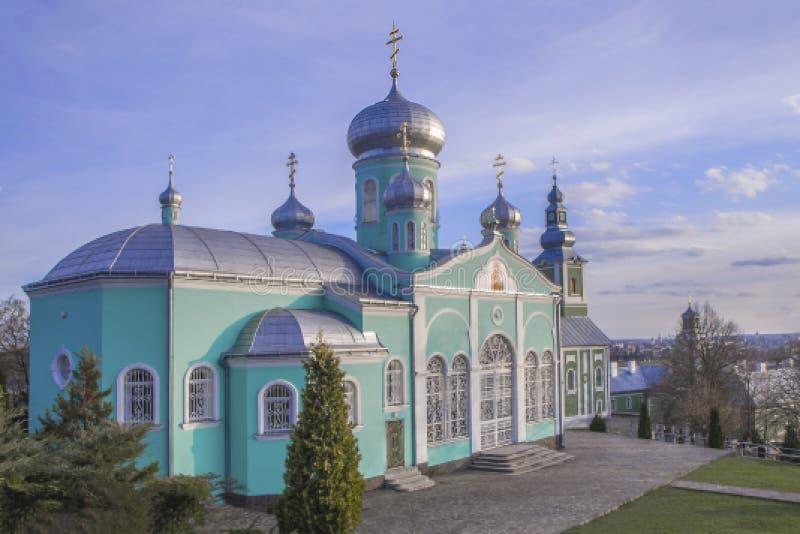 圣尼古拉修道院,穆卡切沃,乌克兰 春天夏天视图 免版税图库摄影