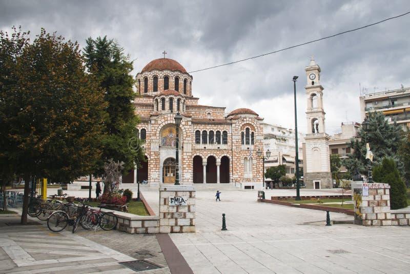 圣尼古拉教会在沃洛斯,希腊 库存照片